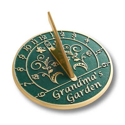 The Metal Foundry Grandma's Garden Sundial Gift Handmade In England In Brass