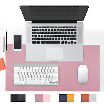 Dual Sided Pink Pu Leather Desk Pad Mat Desk Blotter Protector 31.4x 15.7inch Us