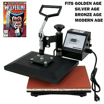 NEW Comic Book Heat Press Pressed Comics for better grading Books, T Shirt Press