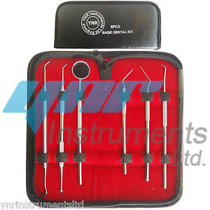 YNR Dental Tartar Calculus Plaque Remover Tooth Scraper Mirror Scaler Kit Set