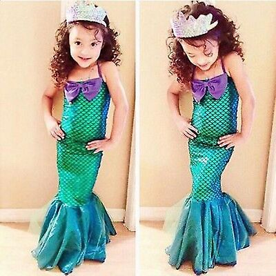 Costumes For Little Kids (The Little Mermaid For Girl Kids Costume Princess Ariel Cosplay Fancy Dress)