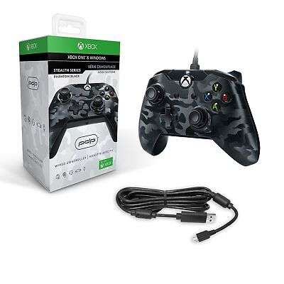PDP Wired Controller Black Camo for Xbox One