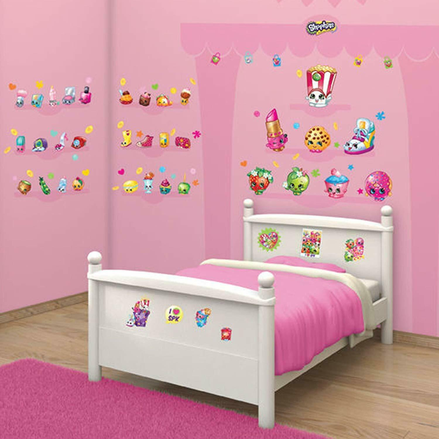 Details About Walltastic Kins Children S Room Décor Kit 86 Repositionable Wall Stickers