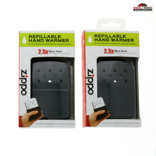 2 Zippo Refillable Hand Warmers Black ~ NEW ~ Ships Fast