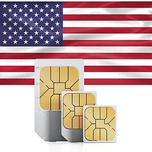USA Daten SIM + 1000 MB im AT&T Netz (30 Tage)