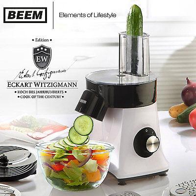 BEEM Schneid-FIXX elektrische Reibe Gemüsehobel Raspel Gemüseschneider Käsereibe