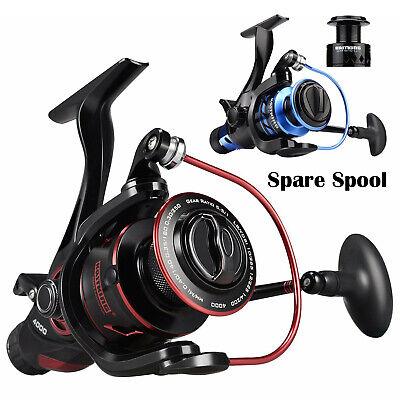 KastKing Baitfeeder Front & Rear Drag Spinning Fishing Reel + Free Spare -