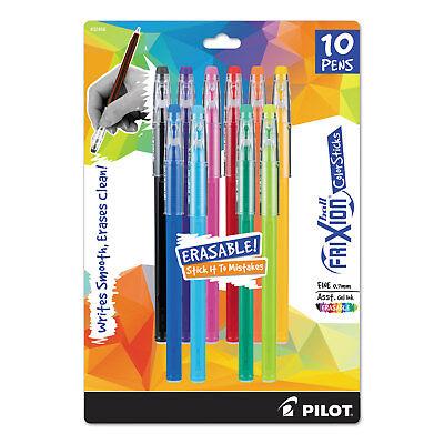 Pilot Frixion Colorsticks Erasable Gel Ink Pen Fine 0.7 Mm Assorted Ink 10