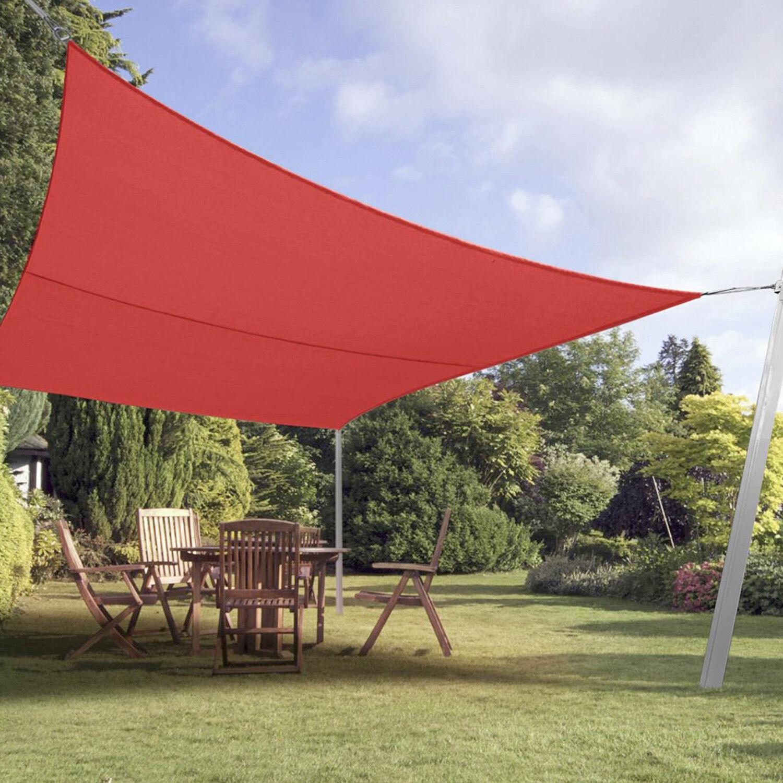 Red Custom Rectangle Sun Shade Sail Screen Patio Yard Pool Garden 8 Ft 15 Ft Ebay