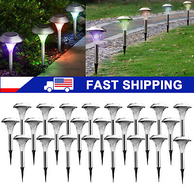 Solar Power Color Changing LED Lights Stainless Steel Lamps Outdoor Garden Lawn  ()