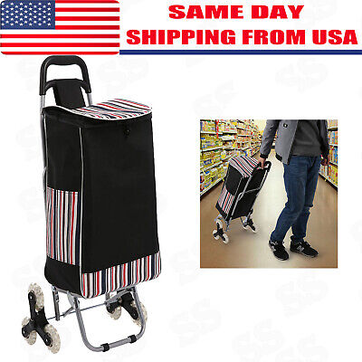 Foldable Shopping Cart Jumbo Size Basket With Wheels For Laundry Grocery Travel