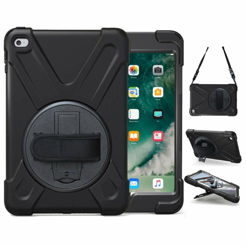 100% authentic 822d8 491f4 Details about For iPad mini 4 With Handle Grip Shoulder Strap Stand Heavy  Duty Lifeproof Case