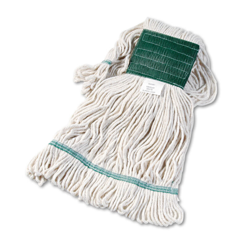 Boardwalk Super Loop Wet Mop Head Cotton/Synthetic Medium Size White 502WHEA
