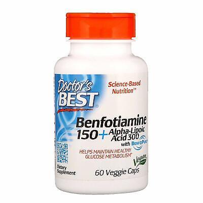 Doctor's Best Benfotiamine 150 + Alpha-Lipoic Acid 300 BenfoPure, 60 Veggie