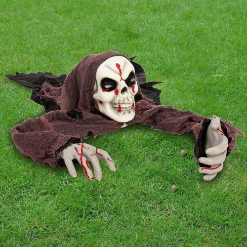 Halloween Skeleton Groundbreaker with bloodstains Decorations Halloween Outdoor