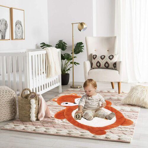 Baby Animal Mat Fox, Baby Play Mat, Toddler Stuffed Animal Floor Cushion