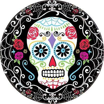 Día de los Muertos Mexicano Halloween Calavera Fiesta Celebración Vajilla Platos