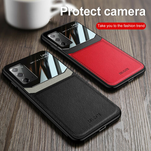 For Samsung Note 20 Ultra S20 Plus S10e Luxury Hybrid Glass Leather Case Cover - $6.79
