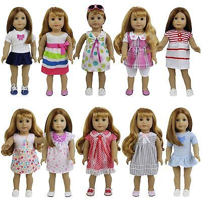14 Baby Doll Clothes - 8 Sets Girl Baby Doll Clothes Dress Skirt For 14-16 inch and 18