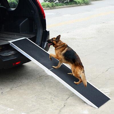 Tragbare Rampe (Alu Hunderampe Rampe Haustier PKW Einstiegshilfe klappbar 183x36 cm Katze)