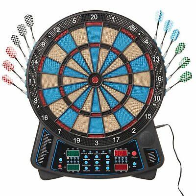 Dartscheibe 4 Displays 159 Spiele 16 Spieler 12 Pfeile Sound Cybermatch Darts