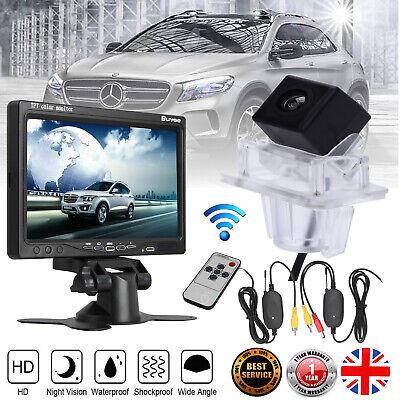 "Wireless Rear View Reversing Camera +7"" Monitor for Mercedes-Benz C E Class W204"
