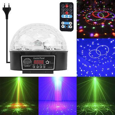 RGB LED Disco DJ Lichteffekt discokugel party House Magic DMX Projektor EU plug