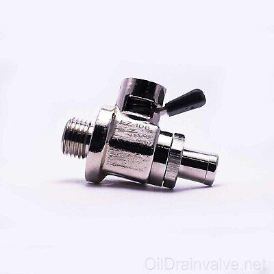 EZ Engine Oil Drain Valve EZ-106(14mm-1.5) & Straight Hose End H-001 COMBO PACK Hose Oil Drain