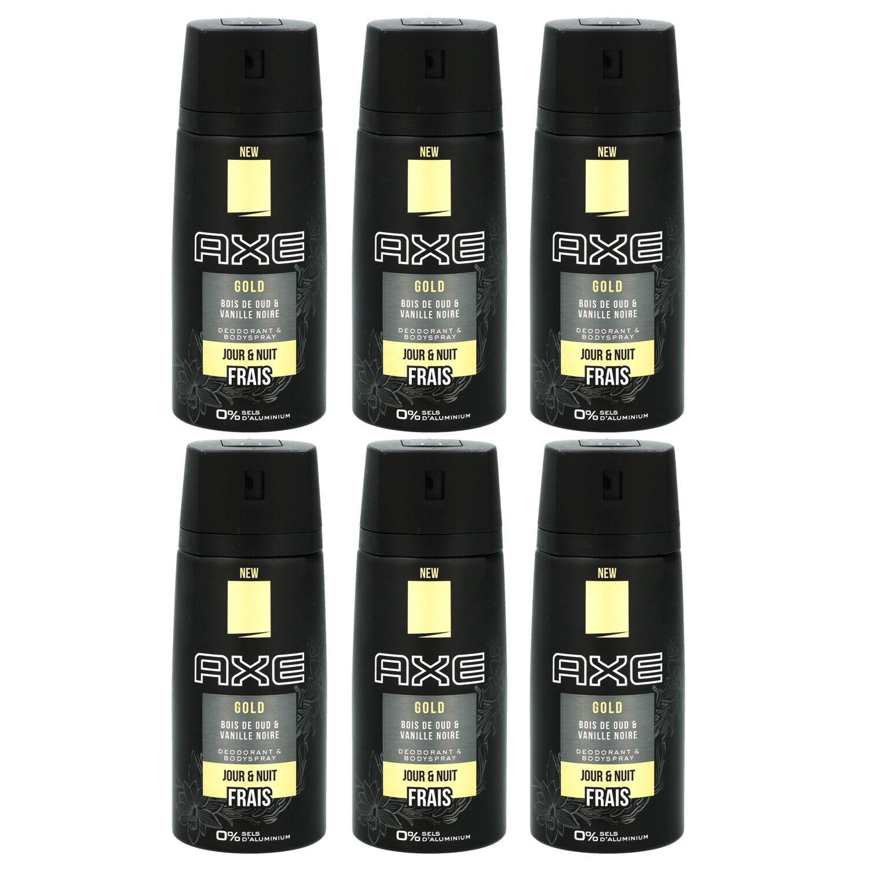 Axe Deo 6 x 150 ml diverse Sorten Deodorant Deospray - verschiedene Sorten Gold