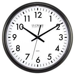 404-2634-INT La Crosse Clock Company 13.5 Thinline Analog Quartz Wall Clock