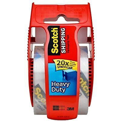 Scotch Heavy Duty Shipping Packaging Tape 1 Roll With Dispenser 1.88 X 27.7