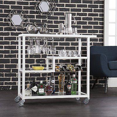 Holly & Martin HZ8818 Zephs Bar Cart - White NEW
