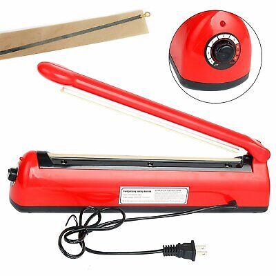 12 Manual Impulse Heat Sealer Poly Bag Machine Plastic Bag Closer