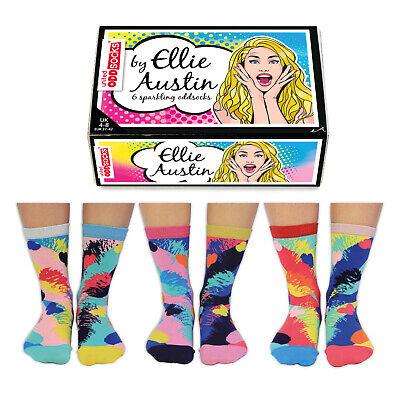Socken Ellie Austin Künstler Oddsocks in 37-42 Strümpfe Frauen im 6er Set
