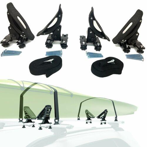 Universal Saddles Kayak Rack Rooftop Carrier Surf Ski Roof Mount on SUV Crossbar