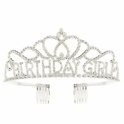 Birthday Girl Crown (Birthday Girl Tiara Party Crown Silver Accessories)
