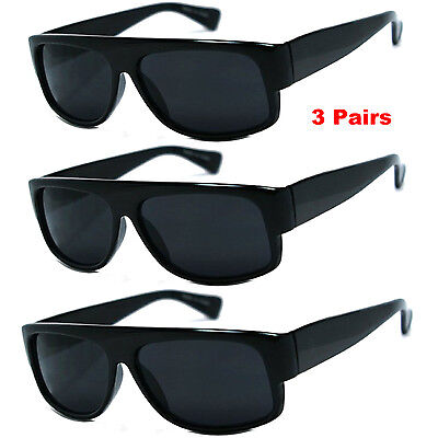 3 PACK LOT Wholesale Bulk Sunglasses Super Dark EAZY E OLD SCHOOL LOCS Gangster