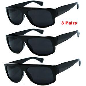 3 PACK LOT Wholesale Bulk Sunglasses Super Dark EAZY E OLD SCHOOL LOCS Gangster
