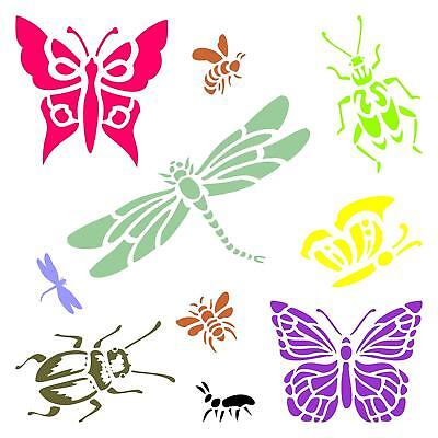 Insects & Bugs Stencil Reusable For Painting Best Quality Scrapbooking Wall
