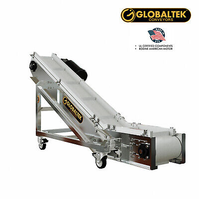 New Globaltek Stainless Steel Incline Cleated Conveyor
