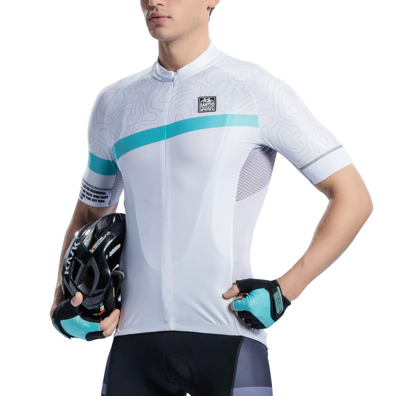 Santic Cycling Jersey Men's Shorts Sleeve Tops Bike Shirts B