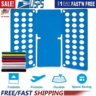 Clothes Folder Folding Board Laundry Organizer for Adult T Shirt Fast Fold Flip (Folding Board For Clothes)