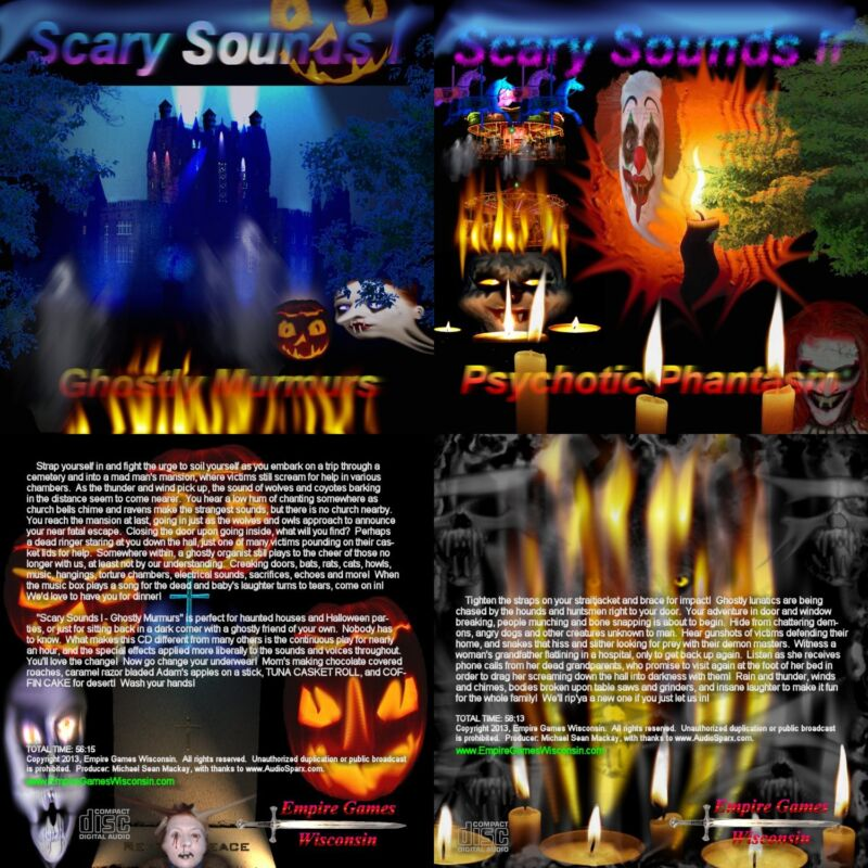 Scary Sounds I & II (2 Halloween Horror Sound Effects CD