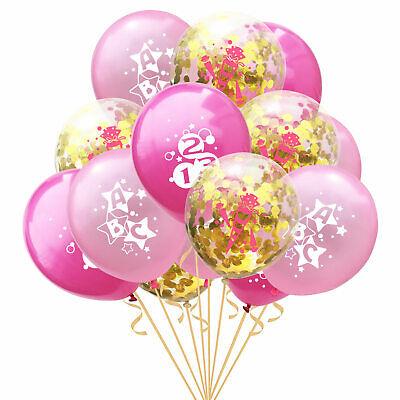 Set Schuleinführung Schulanfang 15 Deko Ballons Rosa Gold (Rosa Luftballons)
