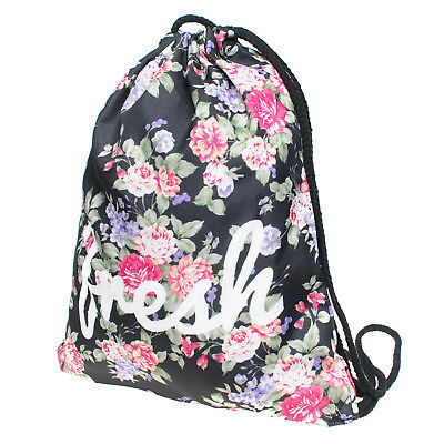 Gym Tote Bags (1pc Fresh Flowers Non-woven Drawstring Bags Backpack Gym Tote Bag Sport)