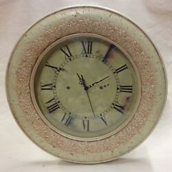 Antique Ivory Look Wall Clock