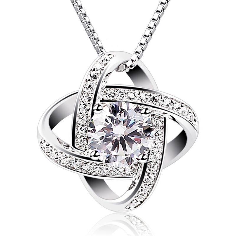 BIRTHDAY GIFTS FOR WIFE GIRLFRIEND MOM CUBIC ZIRCONIA PENDANT GEMINI NECKLACE
