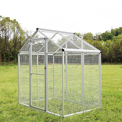 Heavy Duty Bird Cage Large Parrot Walk In Aviary Flight Play Top Pet House White