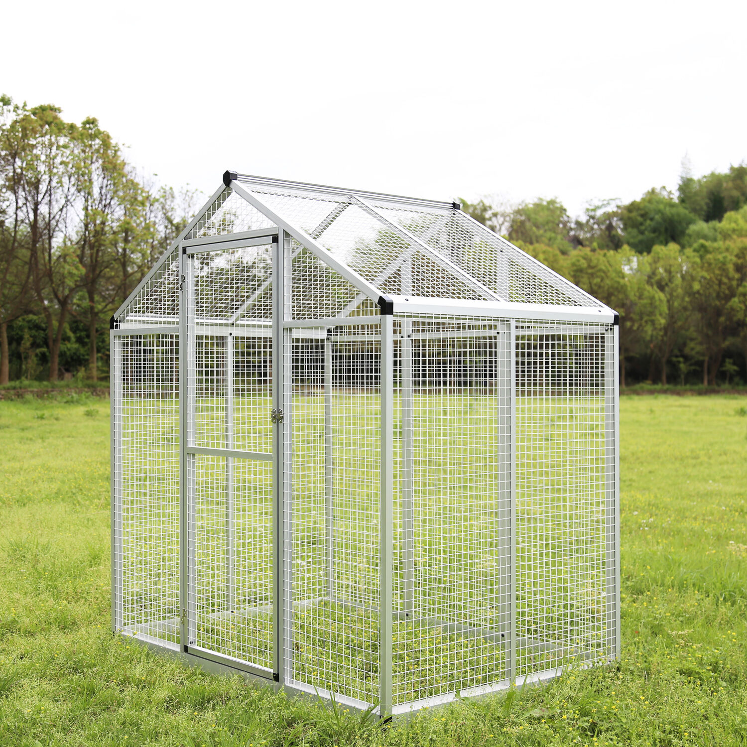 6'x4' Outdoor Polycarbonate Greenhouse Plant Heavy Duty Ri