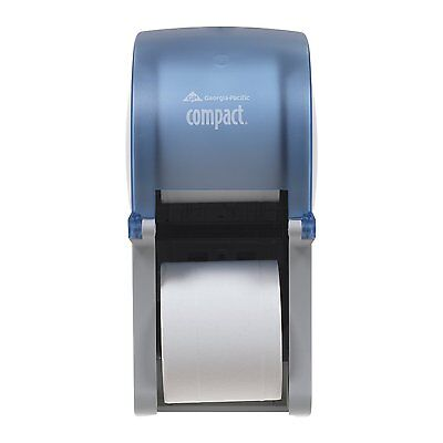 Georgia Pacific 56789 2 Roll Vertical Bath Roll Toilet Paper Dispenser Blue